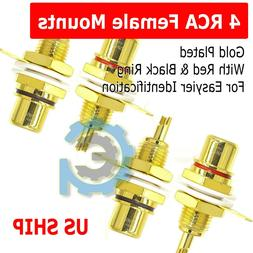 4 Pcs RCA Female Chassis Panel Mount Jack Socket Connector 2
