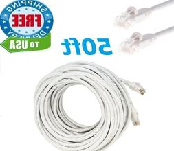 50 FT RJ45 Cat5 Ethernet LAN Network Cable for PC PS Xbox In