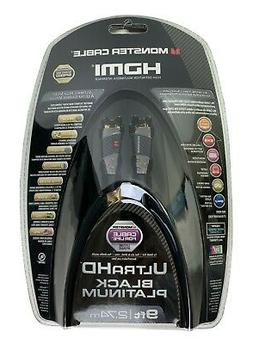 Monster - Black Platinum Series 9' In-wall Hdmi A/v Cable -