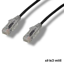 black 7ft ultra slim cat6a patch cable