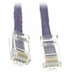 C&E CAT5E 350MHz 1-Ft UTP Bootless Cable, Purple  Ethernet p