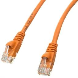 eDragon Cat5e Orange Ethernet Patch Cable, Snagless/Molded B