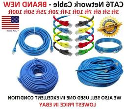 CAT6 Patch Network Cable Rj45 Ethernet 3ft 5ft 6ft 7ft 10ft