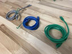 Ethernet Cable Assortment Of Lengths 3, 5, 7ft Lot of 20| Ch