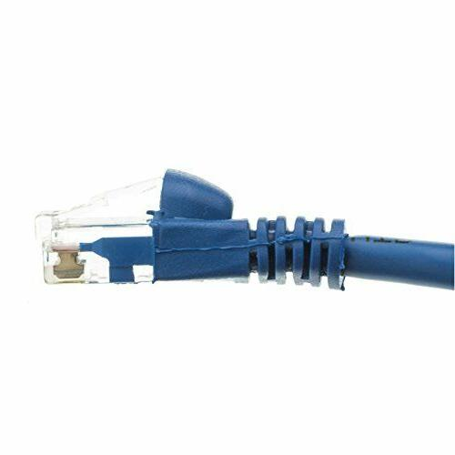 C&E CAT5E Hi-Speed Cable, Snagless/Molded Boot, Blue