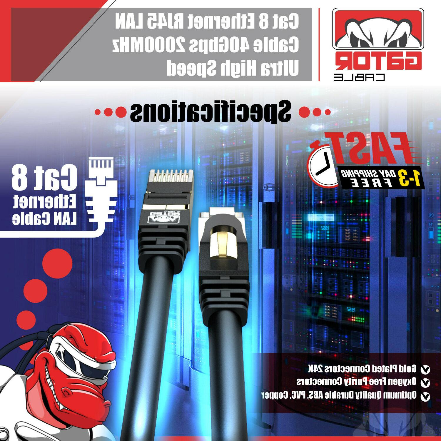 Cat RJ45 Cable Super 40Gbps Patch LAN Gold Plated