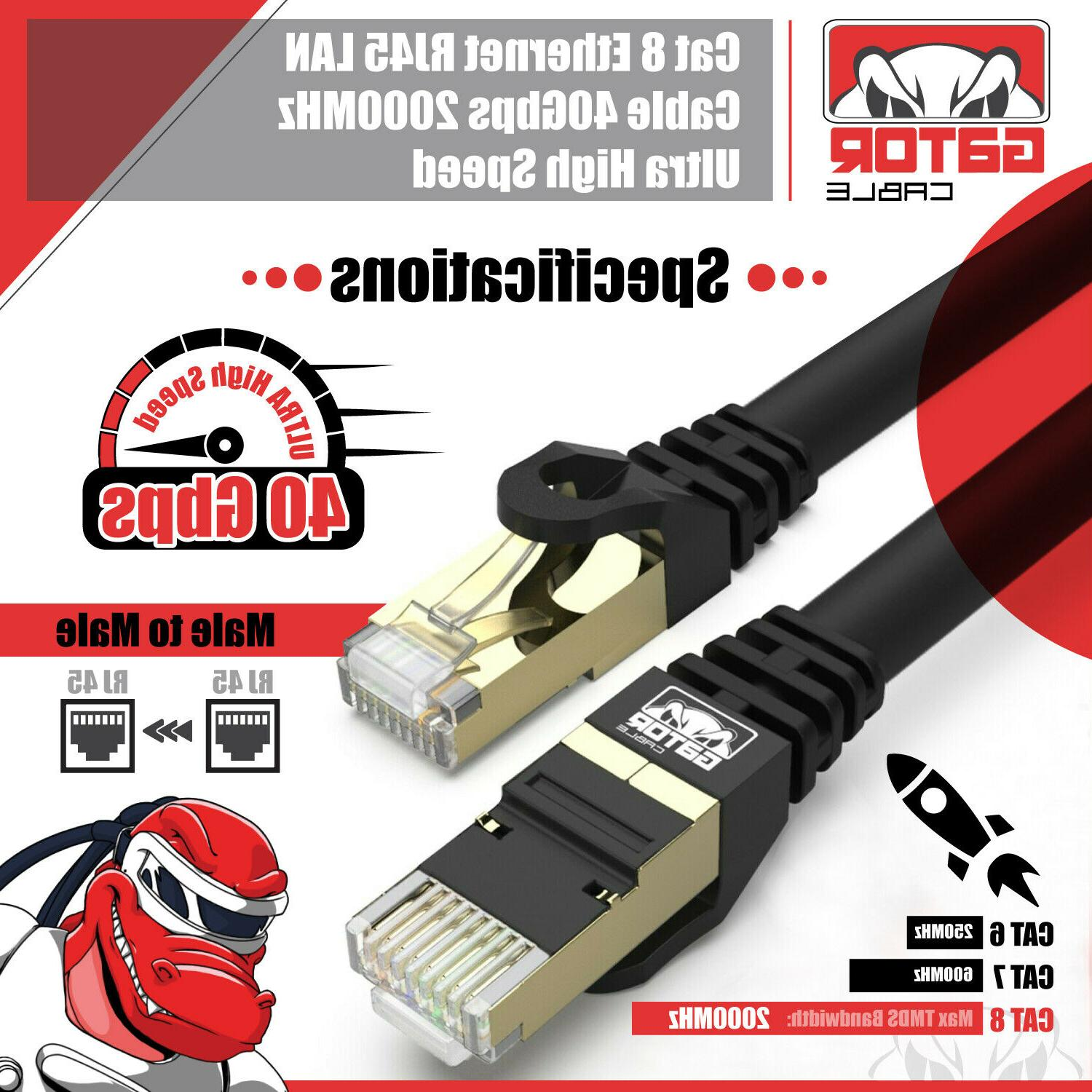 Cat 8 Cable Super Speed 40Gbps Plated