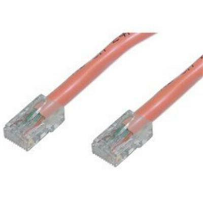cat5e orange ethernet patch cable bootless 10