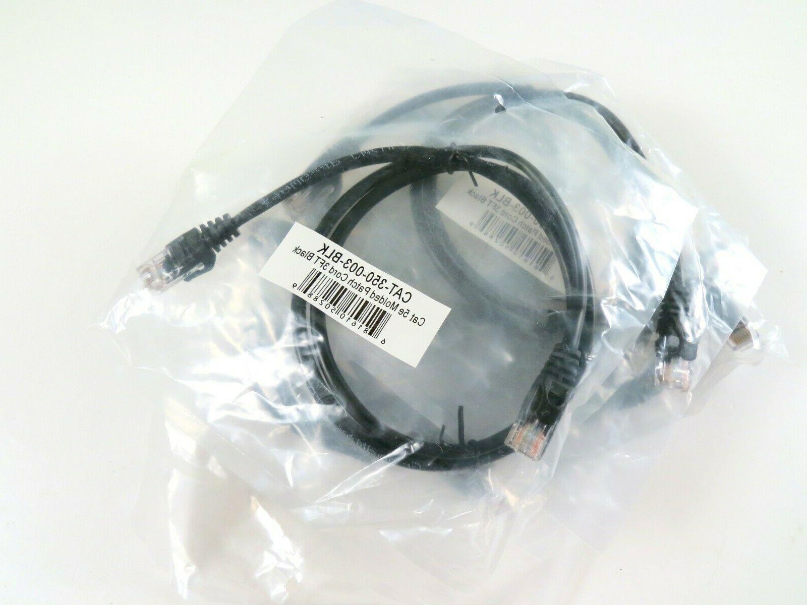 Lot of Patch Cables, 3' Black, Brand