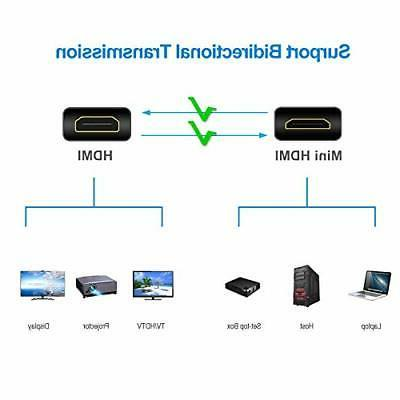 Mini HDMI to Cable, Supports Ethernet Audio Return