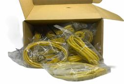 Lot of 20- CAT5e Ethernet Network LAN Patch Cable Cord- Yell